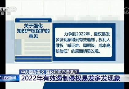 中办、国办印发《关于强化知识产权保护的意见》 提出四大保护具体方向