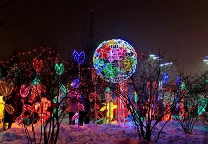 长春公园冰雪灯光展预计1月上旬亮灯