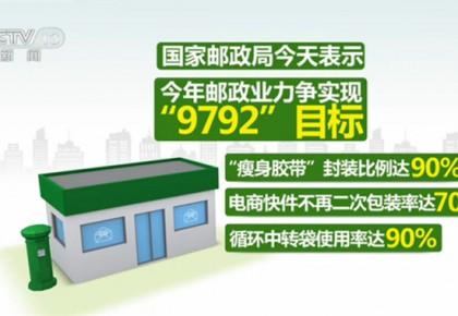 國家郵政局:今年電商快件不再二次包裝率將達70%