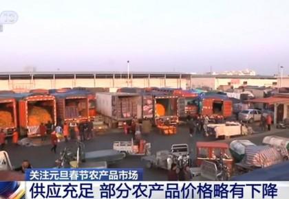 元旦春节农产品市场供应充足 部分农产品价格略有下降