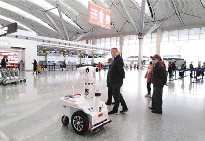 全國首個測溫巡邏機器人亮相