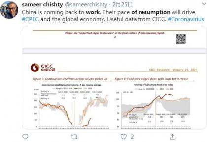 海外人士点赞中国复工复产:助力全球经济发展 彰显大国担当