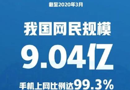 第45次《中国互联网络发展状况统计报告》发布:网民规模破9亿!