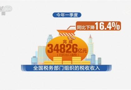 国家税务总局:一季度全国累计实现减税降费7428亿元