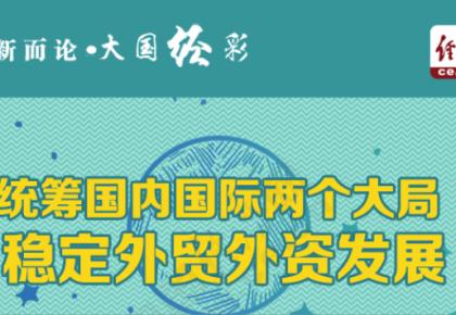 【评新而论·大国经彩】图解:统筹国内国际两个大局 稳定外贸外资发展