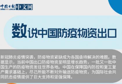 图说|数读中国防疫物资出口:为全球抗击疫情提供支持和保障
