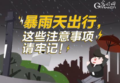 【图解】暴雨天出行,这些注意事项请牢记!