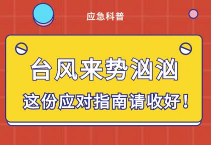 【应急科普】台风来势汹汹 这份应对指南请收好!