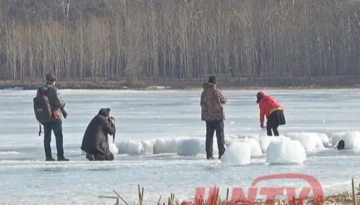 【注意】 长春南湖公园冰层开化 冰上活动危险