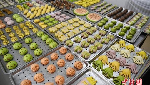 好吃又好看!吉林大学南湖校区食堂制作花样面点