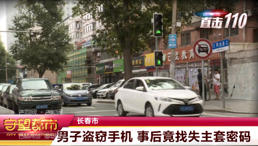 【视频】长春:男子盗窃手机 事后竟找失主套密码