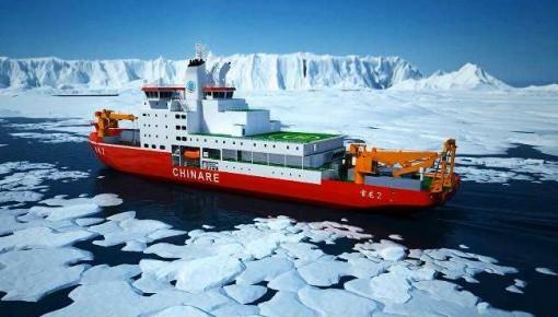 """首艘中国造极地破冰船""""雪龙2""""号展现""""硬""""实力"""