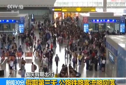 国庆假期出行:假期第三天 公路铁路客流略回落