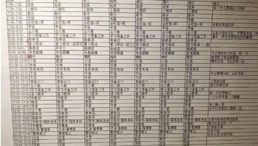 """时间精确到分!杭州电子科技大学""""车神""""作息表火了"""