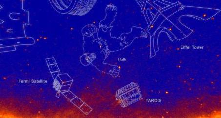"""NASA命名新星座 哥斯拉、绿巨人都""""上天"""""""