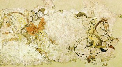 """1300年前的""""世界杯""""!《胡人打马球图》壁画重见天日"""