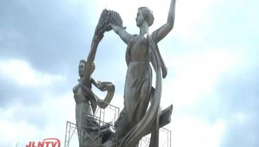 地标雕塑《迎》将重回长春南大门