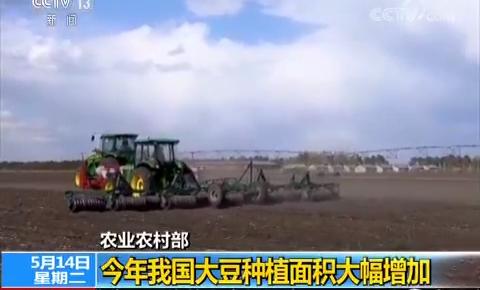 农业农村部:今年我国大豆种植面积大幅增加