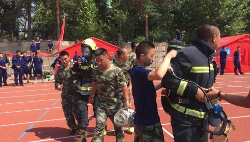 第三届长春消防运动会 同场竞技展英姿