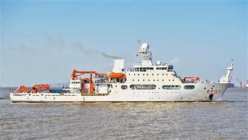 """全球排水量最大的静音科考船交付 顶级科考利器""""东方红3""""驶向大海"""