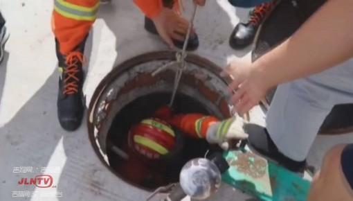 老人撿手機墜入深井 延邊州消防緊急施救