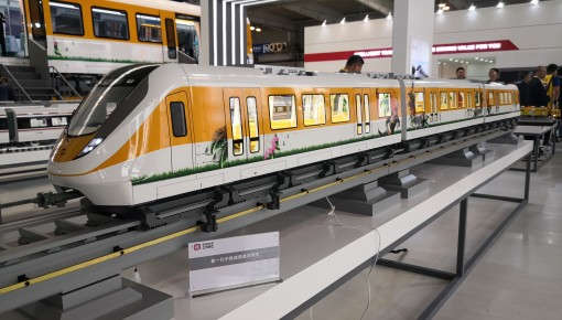 最高运行速度达120km/h!新一代中低速磁浮列车亮相长春