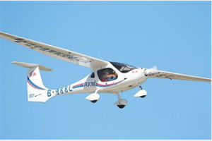 中國首架新能源輕型運動飛機亮相2019西安航展