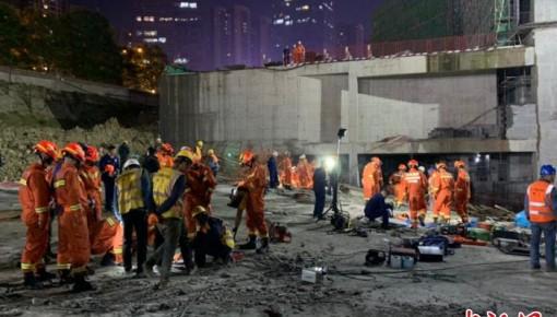 贵阳工地垮塌失联人员全部找到 8人遇难2人受伤