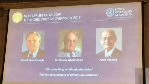 2019年諾貝爾化學獎揭曉