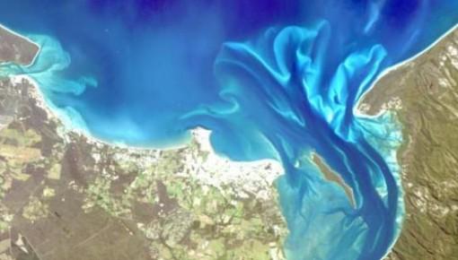 """中国""""海洋一号C""""卫星生成精美图像 宛如艺术画作"""