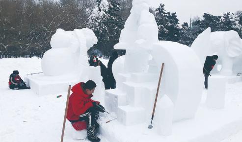 """15个新雪雕""""落户""""南湖公园"""