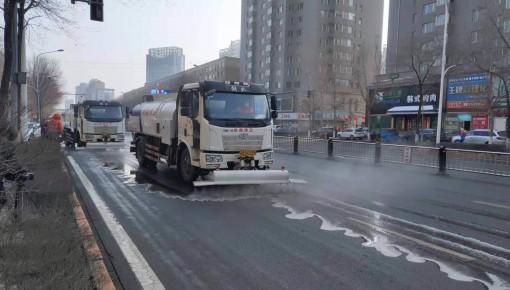 """加强疫情防控力度 272台专业设备为长春市""""洗脸"""""""