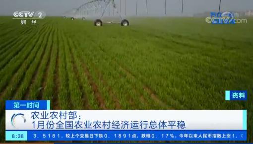 農業農村部:1月份全國農業農村經濟運行總體平穩