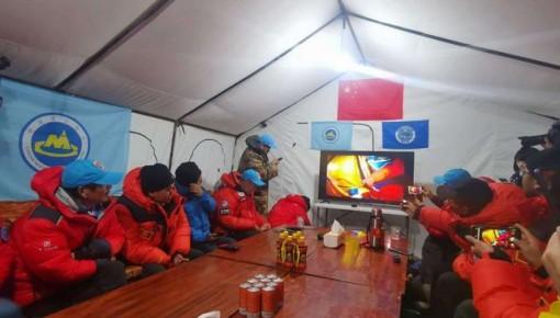 2020珠峰高程測量登山隊登頂成功