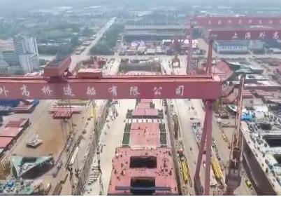 亞洲第一船塢上海外高橋造船廠2號船塢竣工
