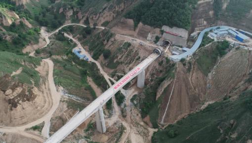 含水率高达33%!国内首座穿越最湿黄土稀泥的高铁隧道通了