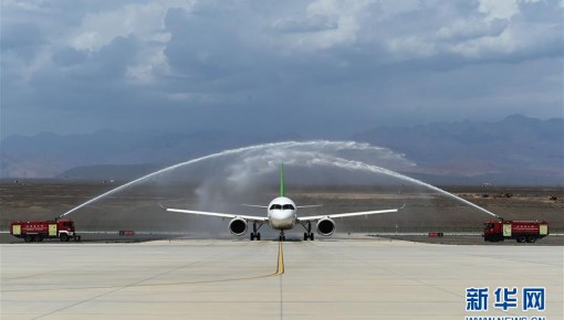 國產C919客機飛抵吐魯番 開展高溫專項試飛
