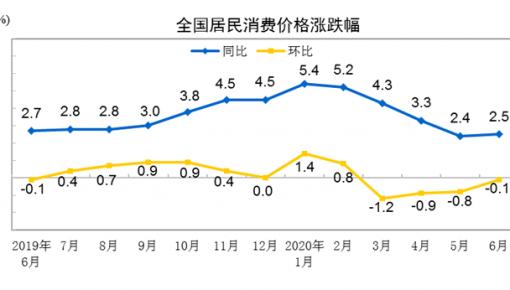 国家统计局:2020上半年全国居民消费价格同比上涨3.8%