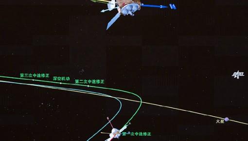 中国探火最新消息:天问一号完成第一次轨道中途修正!
