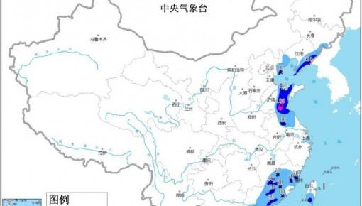 暴雨藍色預警:吉遼冀魯蘇皖等地有大到暴雨