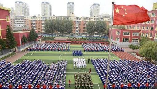 同升國旗,同唱國歌,長春百萬學子同時為祖國送祝福